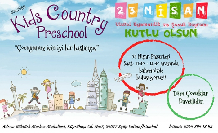 Kids Country Preschool'da 23 Nisan Şöleni